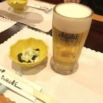 ひょうたん寿し - 生ビール&お通し