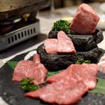焼肉ZENIBA - 溶岩焼き5種盛り合わせ+弁慶