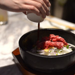 焼肉ZENIBA - 肉屋のガーリックライス