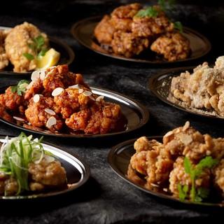【おすすめ料理】6種のチキン唐揚げ!ラクレットがけもOK♪