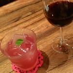 97034160 - サングリア(ロゼ)&赤グラス