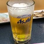 丸惣 - 中生ビール。