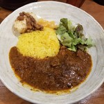 SPICY CURRY 魯珈 - ラムコルマ+るうろう煮玉子