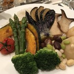 97056089 - 野菜カレーのご飯と野菜