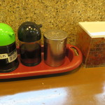 ラーメン壱番館 - 卓上調味料