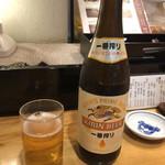 銀座寿司処 まる伊 - 瓶ビール キリン  650円