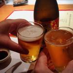宮武 - 瓶ビールで乾杯♪