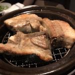 Thira - ☆黒豚の焼き物。ボリュームがありました。