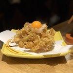 天ぷら酒場KITSUNE - 海老と野菜のかきあげタレ