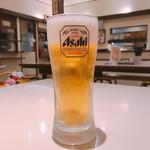 手打うどん 長谷沼 - ビール 美味しそうに注がれてます♪