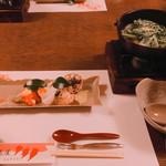三瀬谷 大黒屋 - 料理写真:コース…前菜、鍋物