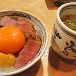 97070670 - 〆ご飯  う肉TKGと鶏がらスープ