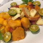 ミルナーナ - 前菜3種(茗荷フルーツマリネ)