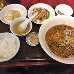 97075805 - 「汁なし玉子のせカレーあん麺」980円
