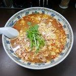 南ばん亭 - 南ばん麺辛さふつう 上空から