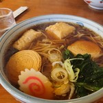 魚要 - 元祖湯波そば 大盛(¥1,370円)