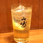 酒肴 新屋敷 - サントリー山崎のダブルのハイボール