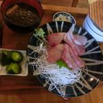 えん処 こばく亭 - かぼすぶり刺身定食