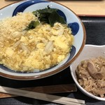 竹清 - 肉あんかけ提供時お肉は別皿