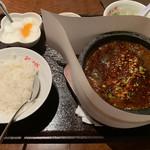台湾風居酒屋 阿里城 - 頂天石鍋麻婆豆腐(815円)※税抜 2018.11