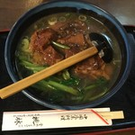 桃林 - 牛バラそば800円