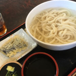 みしま - 湯だめうどん 大盛 +なす天 (計600円)