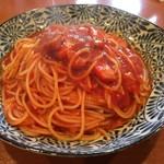 ブラキテ - ベーコンのトマトソース スパゲティ  大盛