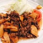 ときわ - 牛肉エリンギ炒め  ¥450