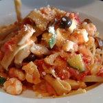 ハリ ハリ - 海老ときのこのトマトクリームスパゲッティー