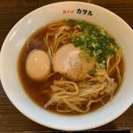 鶏そば カヲル - 鶏そば醤油(味玉)