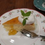 茶亭 羽當 - ベイクドチーズケーキ
