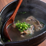 肉の炭火焼と土鍋ごはん だんらん居酒家HANA - テールスープ