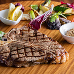 肉の炭火焼と土鍋ごはん だんらん居酒家HANA - Tボーン炭火ステーキ(w/季節野菜グリル)