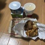 ケンタッキーフライドチキン - 料理写真:1190円のセット、ジュースM、ポテト、チキンが2個!