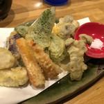 クウカイ - 旬野菜の天ぷら