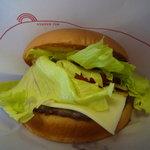 モスバーガー - モーニングセットの野菜チーズバーガー