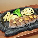 オレンヂ - スタミナ ガーリックステーキ(ご飯、みそ汁付)¥980