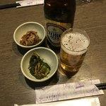 養老乃瀧 - 養老ビールとお通し