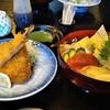 ひろ寿司 - 料理写真:[料理] 鰺フライ & 海堡丼 全景♪w