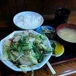 ゑちごや - 野菜炒め定食(670円)