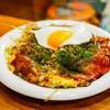 ソニア - 料理写真:☆【ソニア】さん…お好み焼き…肉玉子そばに半熟目玉焼き(≧▽≦)/~♡☆