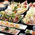 山形蕎麦と備長炭炙り酒家 YEBISU亭 - 料理写真:宴会コース