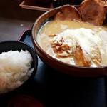 味噌屋麺四朗 - 粉雪ラーメン+炙りチャーシュー2枚