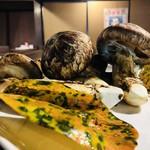 神祗院 - 松茸を七輪でカリフワに焼けます。