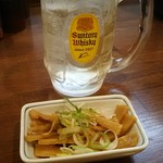 自家製熟成麺 吉岡 - ハイボール350円とセットのお通し