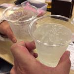 97139603 - レモンチューハイで乾杯♪