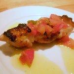 9714234 - 津軽豚の串焼き、フルーツトマト添え