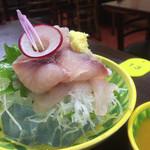 鰻福亭 - 鯉のあらい(*´∀`*)これ食べなきゃ、成田に来た甲斐ないですよー。