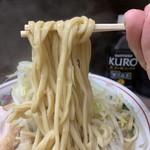 ラーメン二郎 - 【2018.11.4】低加水の中太麺はカタメコール推奨。