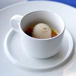 レストラン ボンヌママン ノブ - クリームブリュレとコーヒーのアイス